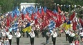 May 9, crowd of people at the parade 3 HD Footage