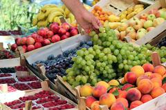 Fresh Fruit On The Market.jpg - stock photo