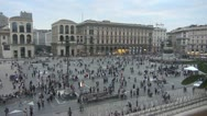 Stock Video Footage of Piazza Duomo.Milan.Italy.Pedestrians