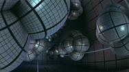 Stock Video Footage of flight inside alien complex spherical structures n1032B