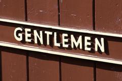 Gentlemen Sign Stock Photos