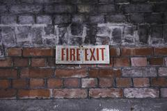 Fire Exit Stock Photos