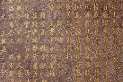 chinese characters background - stock photo