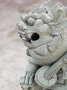 Dragon head stone statue Stock Photos