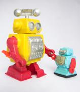 Toy Robots - stock photo