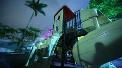 Playground at Night Stock Footage