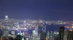Stock Video Footage of Skyscrapers in Hongkong. Time lapse