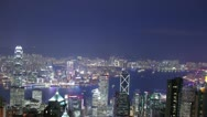 Skyscrapers in Hongkong. Time lapse Stock Footage