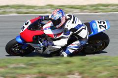 Motorbike racer Stock Photos