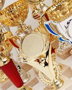 Stock Photo of many sports awards
