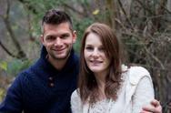 Cute couple smiling Stock Photos