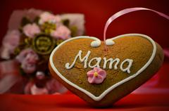 Mothers day gingerbread Stock Photos