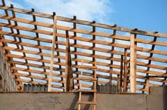 Roof construction Stock Photos