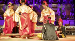 SARAWAK, MALAYSIA - JUNE 2012: Iban and Malay tribal performance Stock Footage