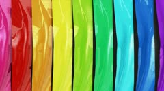 Background animation with colourful waving stripes. Stock Footage