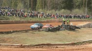 Stock Video Footage of Rallycross racing rally championship