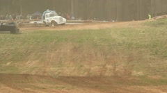 Rallycross racing rally championship Stock Footage