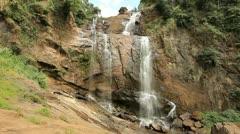 Bambarakanda waterfall, sri lanka Stock Footage