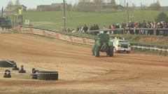 Rallycross racing rally championship - stock footage