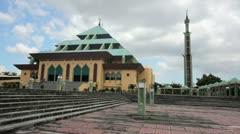 Masjid Raya Batam pyramid mosque, batam island, indonesia Stock Footage