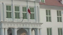 Indonesian flag in kota, jakarta Stock Footage