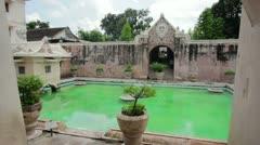 Former palace of indonesian sultan: taman sari castle, jogjakarta Stock Footage
