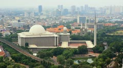 Istiqlal mosque, jakarta, indonesia. Forth biggest in the world Stock Footage