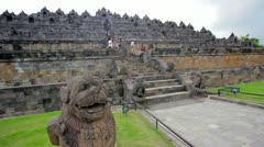 Borobudur, indonesia - stock footage