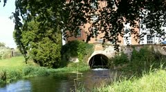 Mill Stream under bridge Stock Footage
