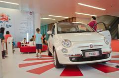 Fiat 500 car Stock Photos