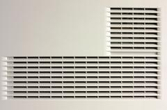 Plastic ventilation grille Stock Photos