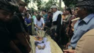 BALI - MAY 2012: burning dead body in balinese funeral Stock Footage