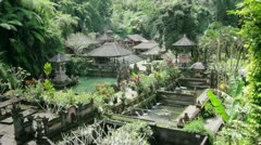 Beautiful balinese temple Stock Footage