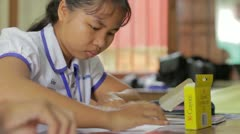 PHNOM PENH - JUNE 2012: students in NGO orphanage school Stock Footage