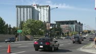 SAIT Polytechnic on 16th Ave with traffic Stock Footage