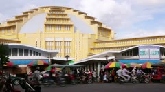 PHNOM PENH - JUNE 2012: cambodian people central market, cambodia Stock Footage