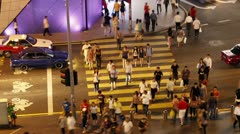 modern city night life - stock footage