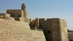 Stock Video Footage of Qal'at al-Bahrain fort in city