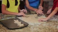 Family Baking Fun Stock Footage