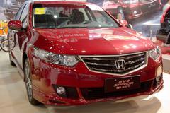 Honda spirior car on display Stock Photos