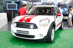 Mini cooper countryman car Stock Photos