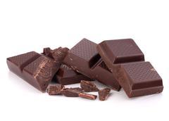 Stock Photo of chopped chocolate  bars