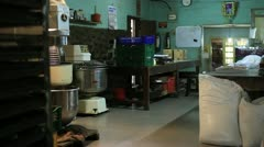 SRI LANKA - MARCH 2012: dirty, unhygienic pastry kitchen - stock footage