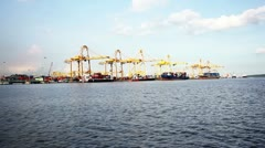 Harbours in singapore Stock Footage