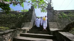 BALI - MAY 2012: ceromony in uluwatu temple Stock Footage