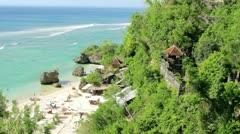 High angle view of Beach at Bali island Stock Footage