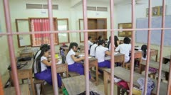 PHNOM PENH - JUNE 2012: students in NGO orphanage school - stock footage