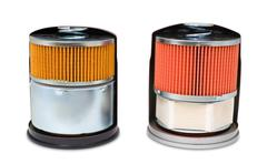 Oil filters, clipping path Stock Photos