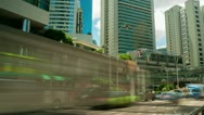Street traffic in Hong Kong, timelapse Stock Footage