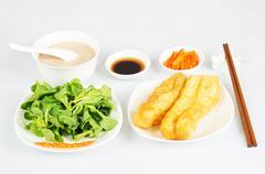 breakfast chinese - stock photo
